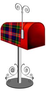 Mailbox with MacPherson Plaid